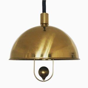 Lampe à Suspension Mid-Century en Laiton par Florian Schulz, 1960s