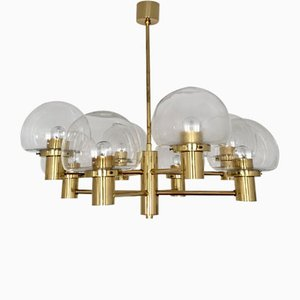 8-Arm Brass Chandelier from Kaiser Leuchten, 1960s