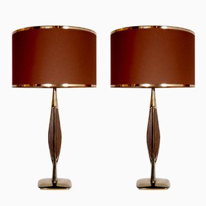 Lámparas de mesa vintage de Laurel, años 70. Juego de 2