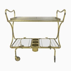 Italian Brass Cocktail Trolley, 1970s