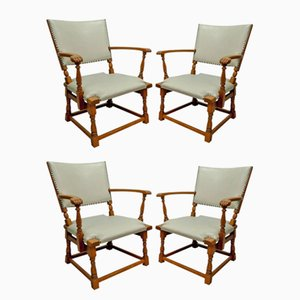 Mid-Century Dutch Armchairs by Theo Ruth for Artifort, 1950s, Set of 4