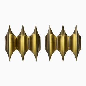 Appliques Murales Gothic III par Bent Karlby pour Lyfa, 1960s, Set de 2