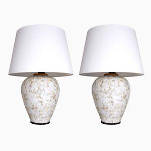 Murano Glas Lampen von Alain Delon, 1970er, 2er Set