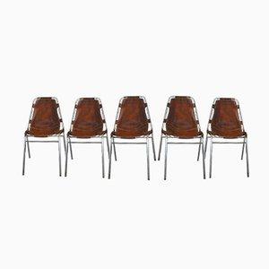 Les Arcs Stühle von Charlotte Perriand für Cassina, 1960er, 5er Set