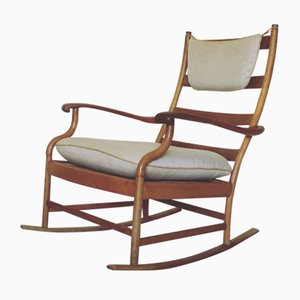Sedia a dondolo in quercia, Scandinavia, anni '50