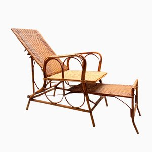 Rattan Model 980 Lounge Chair from Giovanni Bonacina, 1920s