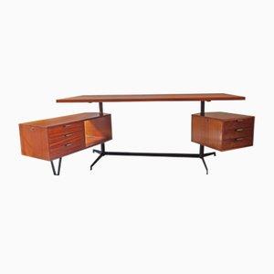 Mahagoni Schreibtisch von Osvaldo Borsani für Tecno, 1956