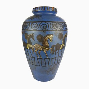 Vase mit Pergamon Dekor von Hans Welling für Ceramano, 1960er