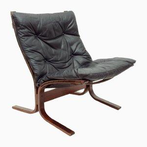 Norwegian Plywood & Leather Siesta Chair by Ingmar Relling for Westnofa, 1960s