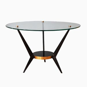 Tripod Coffee Table with Glass Top by Angelo Ostuni, 1950s