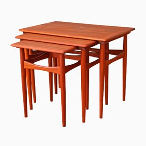 Tables Gigognes en Teck, Danemark, 1960s