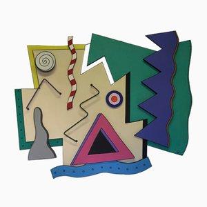 Französische Wandtafel von Pierre Folie, 1990er