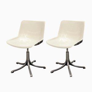 Mid-Century Modus Stühle von Osvaldo Borsani für Tecno, 1970er, 2er Set