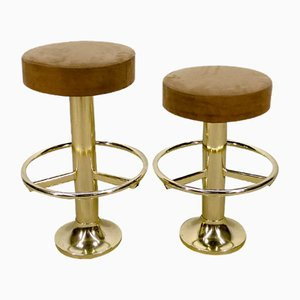 Chromed Steel Stools, 1970s, Set of 2