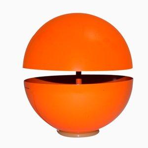 Lámpara de mesa en naranja en forma de globo de Andrea Modica para Lumess, años 80