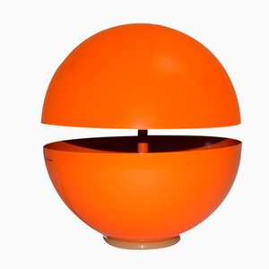 Orange Globe Table Lamp by Andrea Modica for Lumess, 1980s