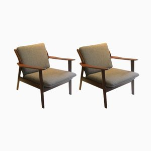 Danish Easy Chairs by Niels Koefoed for Hornslet Møbelfabrik, 1960s, Set of 2
