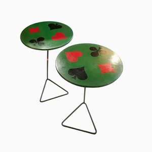 Tables d'Appoint Mid-Century, France, 1950s, Set de 2