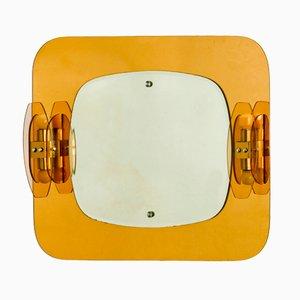 Beleuchteter Mid-Century Spiegel von Mazzega, 1960er