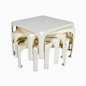 Tables Basses Demetrio 45 par Vico Magistretti pour Artemide, 1966, Set de 7