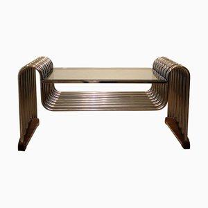 Röhrenförmiger verchromter Vintage Tisch