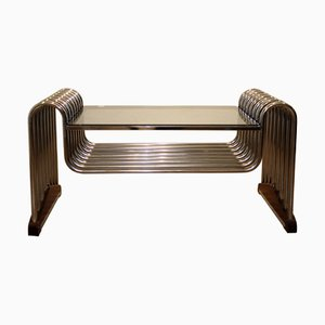 Vintage Chromed Tube Table