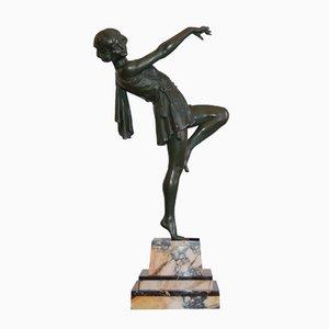 Große Vintage Skulptur mit Tänzerin von Emile Carlier