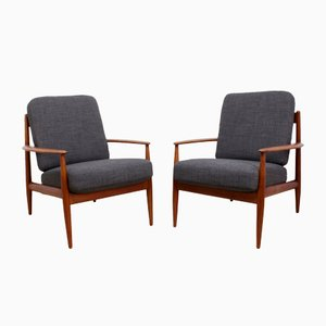 Vintage Teak Armchairs by Grete Jalk for France and Son, Set of 2