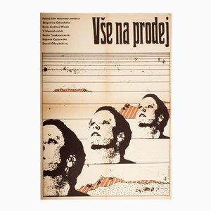 Alles zu verkaufen Filmplakat von Karel Machálek, 1969