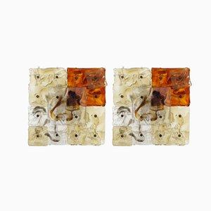 Lampade da parete con patchwork di Venini, anni '70, set di 2