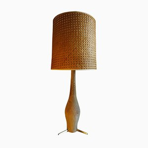 Cerused Wood Lamp, 1950s