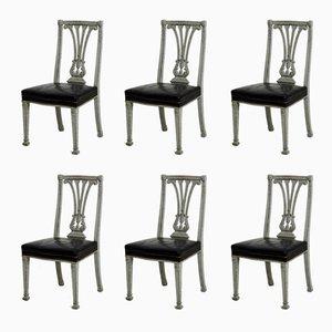Große Esszimmerstühle im gustavianischen Stil, 19. Jh., 6er Set