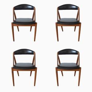 Mid-Century Teak Modell 31 Esszimmerstühle von Kai Kristiansen für Schou Andersen, 1960er, 4er Set