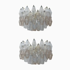 Poliedri Ceiling Lamps by Carlo Scarpa for Venini, 1950s, Set of 2