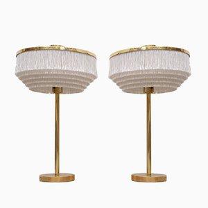 Lámparas de mesa B-138 de latón de Hans-Agne Jakobsson para Hans-Agne Jakobsson AB Markaryd, años 60. Juego de 2