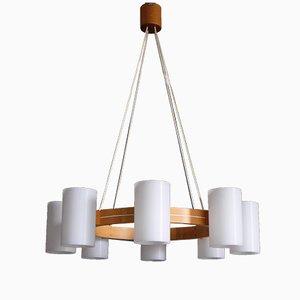 Lámpara de araña modelo 587 de Uno & Östen Kristiansson para Luxus, años 60