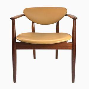 Modell NV 55 Armlehnstuhl von Finn Juhl für Niels Vodder, 1950er