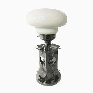 Lampe de Bureau Mid-Century Chrome & Verre Murano
