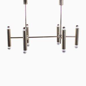 Lámpara de araña geométrica de metal, años 70