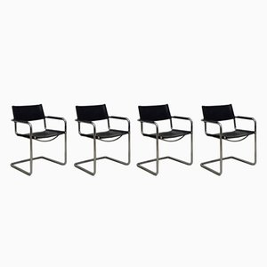 MG5 Stahlrohr Stühle von Matteo Grassi, 1970er, 4er Set