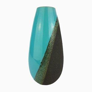 Vaso vintage turchese di Aldo Londi per Bitossi, 1956