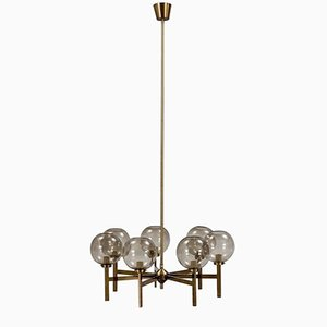 Brass Chandelier with Seven Arms from Westal, 1960s