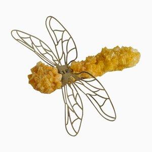 Spilla a forma di libellula in cristallo di Isaac Monté