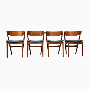 Vintage 7 Teak Dining Chairs by Helge Sibast for Sibast, Set of 4