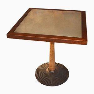 Tavolino da caffè vintage in ottone e quercia di Nordiska Kompaniet