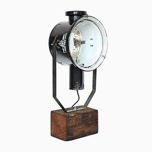 Industrieller Vintage Tisch Scheinwerfer