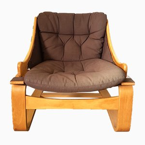 Vintage Swedish Lounge Chair by Ake Fribytter for Nelo
