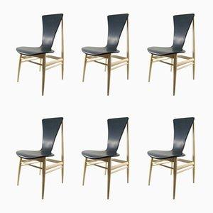 Mid-Century Schichtholz Esszimmerstühle von Inger Klingenberg für Fristho, 6er Set