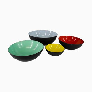 Krenit Bowls by Herbert Krenchel for Torben Örskov & Co, 1953, Set of 4