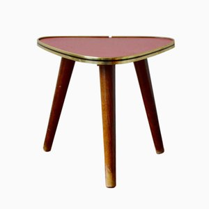 Vintage Red Tripod Side Table